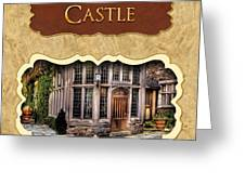 Castle Button Greeting Card by Mike Savad