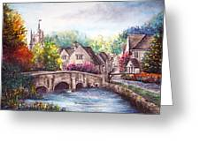 Castle Combe Greeting Card by Ann Marie Bone