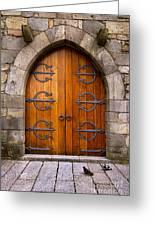 Castle Door Greeting Card by Carlos Caetano
