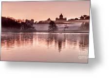 Castle Howard Dawn Greeting Card by Janet Burdon