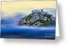 Castle In The Air V. - Strecno Castle Greeting Card by Martin Dzurjanik
