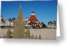 Castle In The Sand Greeting Card by See My  Photos
