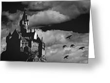 Castle In The Sky Greeting Card by Bob Orsillo