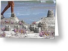 Castle Kingdom Greeting Card by Betsy C  Knapp