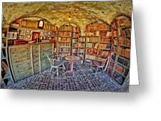 Castle Map Room Greeting Card by Susan Candelario