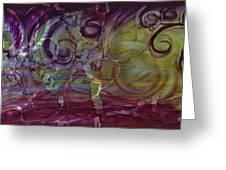 Castle Of Eden Greeting Card by Luis  Navarro