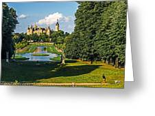 Castle Of Schwerin Landscape Greeting Card by Michael Lobisch-Delija