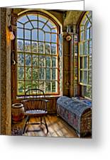 Castle Office Greeting Card by Susan Candelario