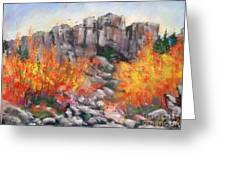 Castle Rock Greeting Card by Bruce Schrader