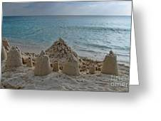 Castles In The Sand Greeting Card by Peggy J Hughes