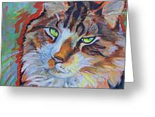 Cat Commission Greeting Card by Jenn Cunningham