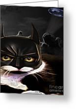 Cat Crusader Greeting Card by Cheryl Young