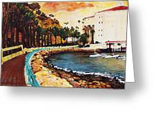 Catalina Island Greeting Card by Carrie Jackson