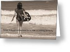 Catch A Wave Quote Greeting Card by JAMART Photography