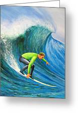Catch The Wave Greeting Card by Bev Martin