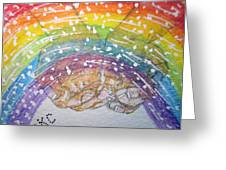Catching A Rainbbow Greeting Card by Kathy Marrs Chandler