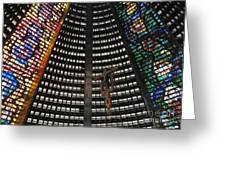 Catedral Metropolitana Do Rio De Janeiro Greeting Card by Barbie Corbett-Newmin