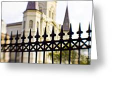 Cathedral Basilica Greeting Card by Scott Pellegrin