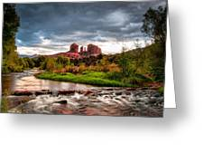 Cathedral Crossing Red Rock Greeting Card by Linda Pulvermacher