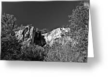 Cathedral Ledge Greeting Card by Nancy  de Flon