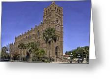Cathedral Of St. John The Baptist Charleston Greeting Card by Lynn Palmer