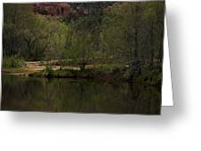 Cathedral Rock and Reflection Greeting Card by Dave Gordon