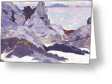 Cathedral Rock  Iona Greeting Card by Francis Campbell Boileau Cadell