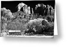 Cathedral Rock Greeting Card by John Rizzuto