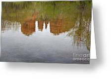 Cathedral Rock Reflections Greeting Card by Dave Gordon