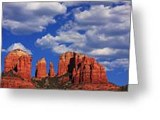 Cathedral Rock Greeting Card by Tom Kelly