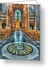 Cathedral Way Greeting Card by Adrian Evans