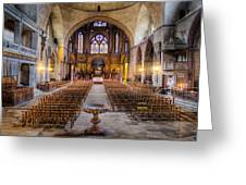 Cathedrale Saint-etienne Interior / Cahors Greeting Card by Barry O Carroll