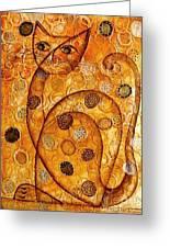 Cats 694 Greeting Card by Marek Lutek