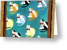 Cats Greeting Card by Genevieve Esson
