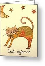 Cats Pajamas Greeting Card by Hazel Millington