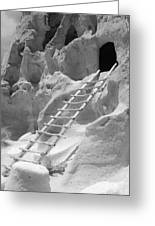 Cave Dwellings Greeting Card by Sonja Quintero