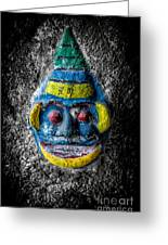 Cave Face 3 Greeting Card by Adrian Evans