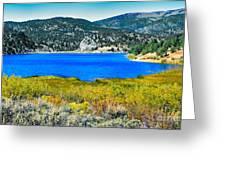 Cave Lake Greeting Card by Robert Bales