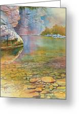 Cave Springs Greeting Card by Robert Hooper