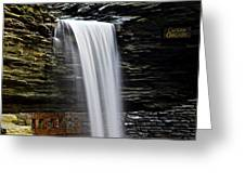 Cavern Cascade Greeting Card by Frozen in Time Fine Art Photography
