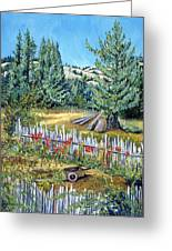 Cazadero Farm And Flowers Greeting Card by Asha Carolyn Young