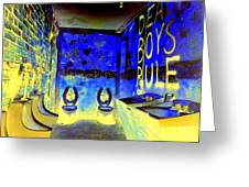 Cbgb's Notorious Mens Room Greeting Card by Ed Weidman