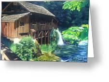 Cedar Creek Grist Mill Greeting Card by Cireena Katto