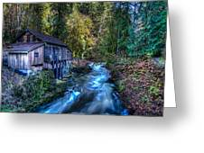 Cedar Creek Grist Mill Greeting Card by Puget  Exposure