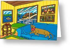 Cedar Key Snoozer Greeting Card by Mike Segal