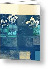 Celebrate - Blue3tx2 Greeting Card by Variance Collections