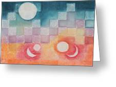 Celestial Matrix Greeting Card by Diana Perfect