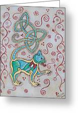 Celtic Cattus Greeting Card by Beth Clark-McDonal