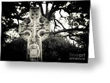 Celtic Cross Greeting Card by Sonja Quintero