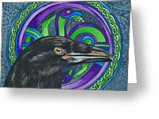 Celtic Raven Greeting Card by Beth Clark-McDonal